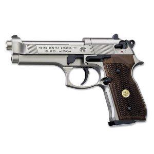 Пистолет Umarex Beretta 92 FS Никель, Дерево