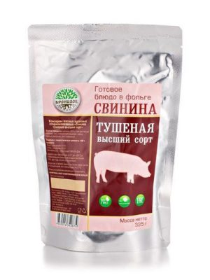 Свинина тушеная, 325 гр.
