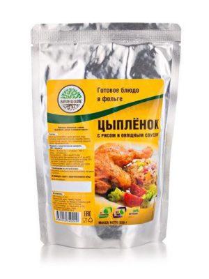 Цыпленок с рисом и овощным соусом 325г